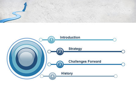 Blue Arrow Path PowerPoint Template Slide 3