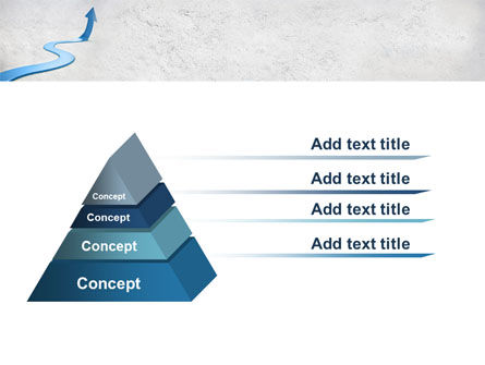 Blue Arrow Path PowerPoint Template Slide 4