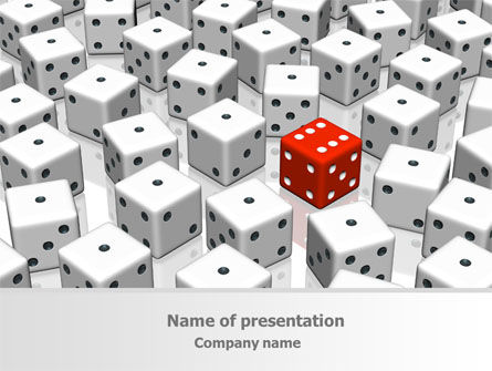 Dice Combination PowerPoint Template