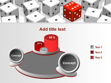 Dice Combination PowerPoint Template Slide 6