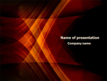 Abstract/Textures: Orange Geometric Pattern PowerPoint Template #08046