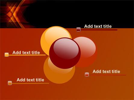 Orange Geometric Pattern PowerPoint Template Slide 10