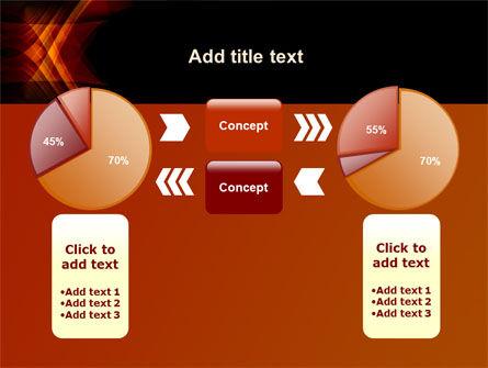 Orange Geometric Pattern PowerPoint Template Slide 11