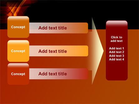 Orange Geometric Pattern PowerPoint Template Slide 12