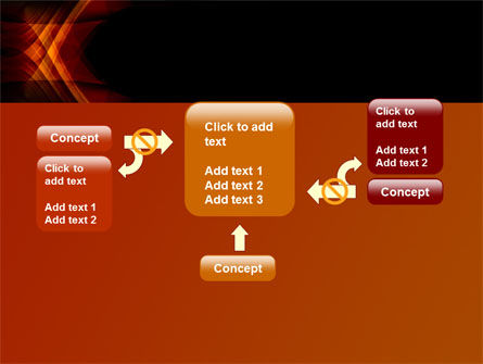 Orange Geometric Pattern PowerPoint Template Slide 13
