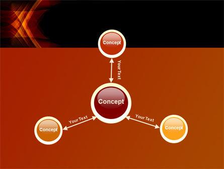Orange Geometric Pattern PowerPoint Template Slide 14