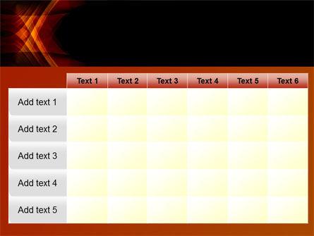 Orange Geometric Pattern PowerPoint Template Slide 15