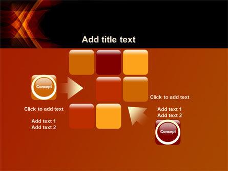 Orange Geometric Pattern PowerPoint Template Slide 16