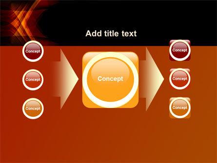 Orange Geometric Pattern PowerPoint Template Slide 17
