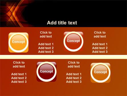 Orange Geometric Pattern PowerPoint Template Slide 19