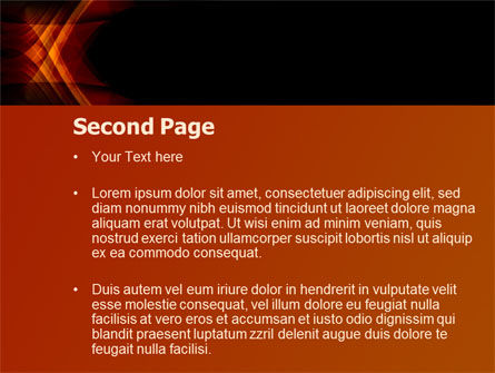 Orange Geometric Pattern PowerPoint Template, Slide 2, 08046, Abstract/Textures — PoweredTemplate.com