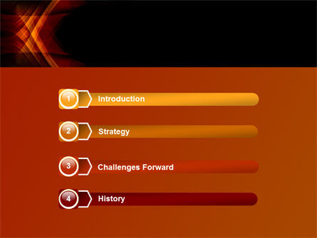 Orange Geometric Pattern PowerPoint Template, Slide 3, 08046, Abstract/Textures — PoweredTemplate.com