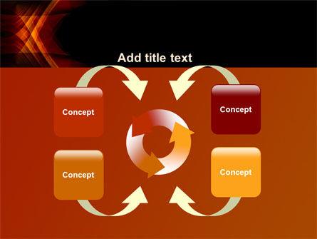 Orange Geometric Pattern PowerPoint Template Slide 6