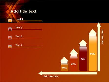 Orange Geometric Pattern PowerPoint Template Slide 8