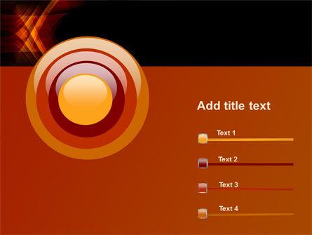 Orange Geometric Pattern PowerPoint Template Slide 9
