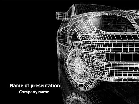 Careers/Industry: Car Modeling PowerPoint Template #08047