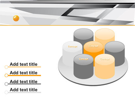 Gray Abstract Theme PowerPoint Template Slide 12