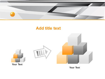 Gray Abstract Theme PowerPoint Template Slide 13