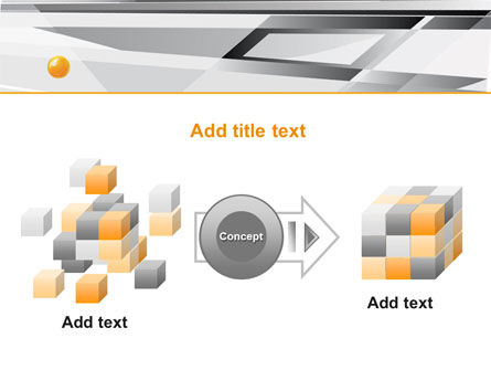 Gray Abstract Theme PowerPoint Template Slide 17