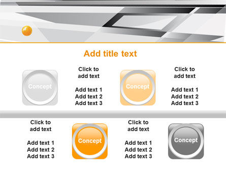 Gray Abstract Theme PowerPoint Template Slide 18