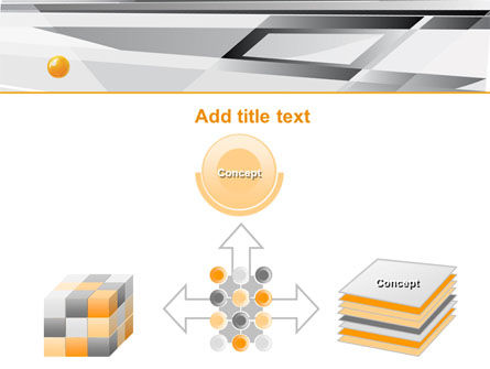 Gray Abstract Theme PowerPoint Template Slide 19