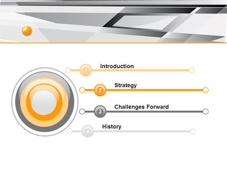 Gray Abstract Theme PowerPoint Template Slide 3
