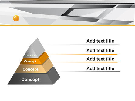 Gray Abstract Theme PowerPoint Template, Slide 4, 08048, Abstract/Textures — PoweredTemplate.com