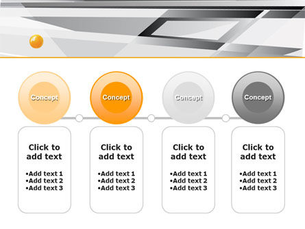 Gray Abstract Theme PowerPoint Template Slide 5
