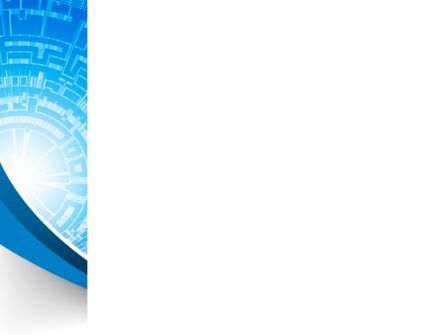 Blue Fusion Reactor PowerPoint Template, Slide 3, 08050, Abstract/Textures — PoweredTemplate.com