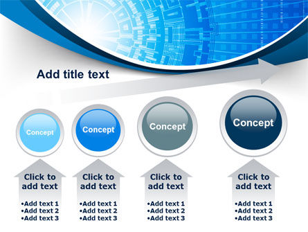Blue Fusion Reactor PowerPoint Template Slide 13