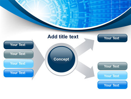 Blue Fusion Reactor PowerPoint Template Slide 14
