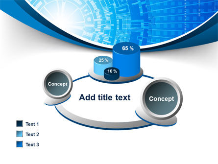 Blue Fusion Reactor PowerPoint Template Slide 16