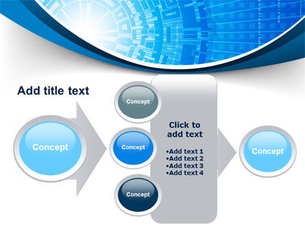 Blue Fusion Reactor PowerPoint Template Slide 17