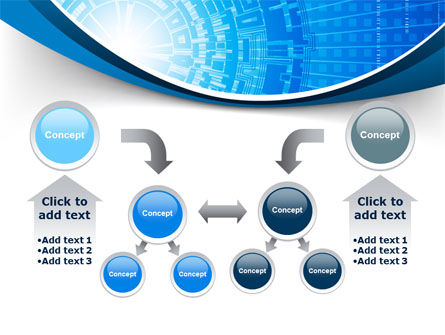 Blue Fusion Reactor PowerPoint Template Slide 19