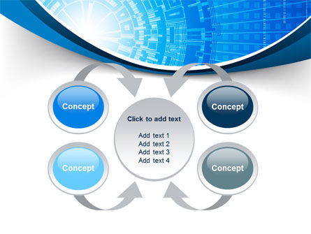 Blue Fusion Reactor PowerPoint Template Slide 6