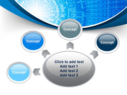 Blue Fusion Reactor PowerPoint Template Slide 7