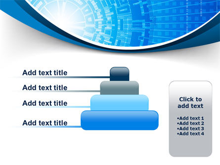 Blue Fusion Reactor PowerPoint Template Slide 8
