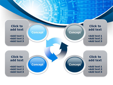 Blue Fusion Reactor PowerPoint Template Slide 9