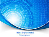 Abstract/Textures: Blue Fusion Reactor PowerPoint Template #08050