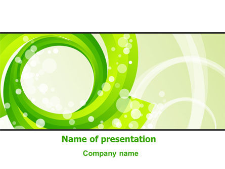 Green Swirl PowerPoint Template, 08051, Abstract/Textures — PoweredTemplate.com