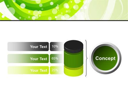 Green Swirl PowerPoint Template Slide 11
