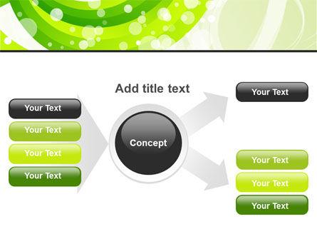 Green Swirl PowerPoint Template Slide 14