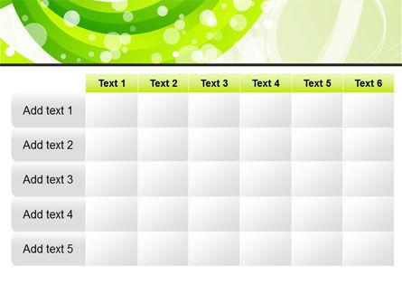 Green Swirl PowerPoint Template Slide 15