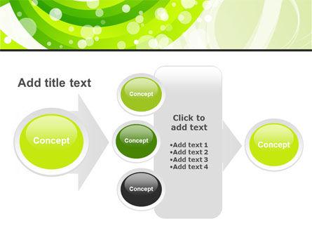 Green Swirl PowerPoint Template Slide 17