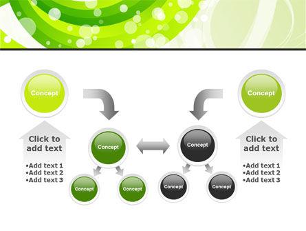 Green Swirl PowerPoint Template Slide 19