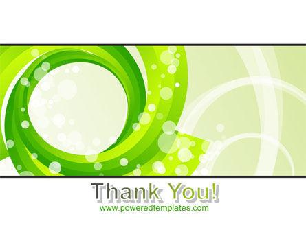 Green Swirl PowerPoint Template Slide 20