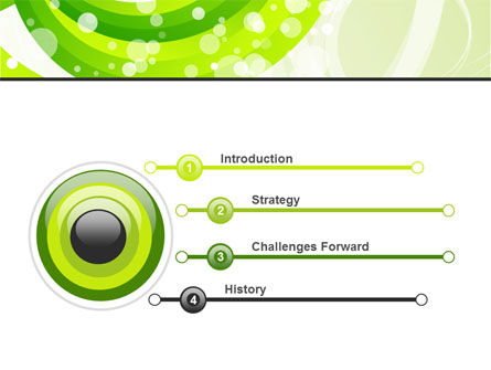 Green Swirl PowerPoint Template, Slide 3, 08051, Abstract/Textures — PoweredTemplate.com