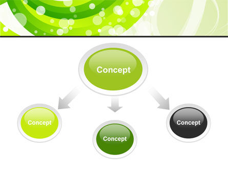 Green Swirl PowerPoint Template, Slide 4, 08051, Abstract/Textures — PoweredTemplate.com