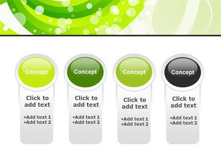 Green Swirl PowerPoint Template Slide 5
