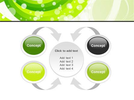 Green Swirl PowerPoint Template Slide 6